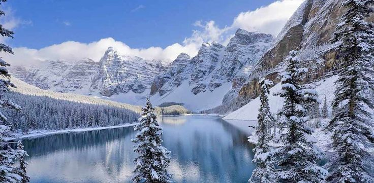 BANFF NATIONAL PARK, CANADA This 2,500-square-foot Alberta park is home to the Banff Springs Hotel, which, in addition to being a breathtakingly beautiful ski destination, is reportedly haunted by the ghost of a woman in a wedding dress. (We hope she also has a coat.) - The 11 Most Spectacular Cities to See in the Winter  via @PureWow