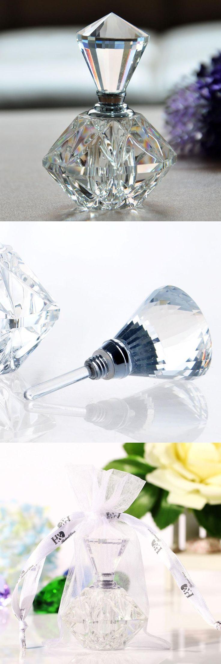 [Visit to Buy] 2016 New Hot Women Mini Crystal Cut Transparant Perfume Bottle Glass Bottle Refillable Gift Empty Refillable Perfume Bottle #Advertisement