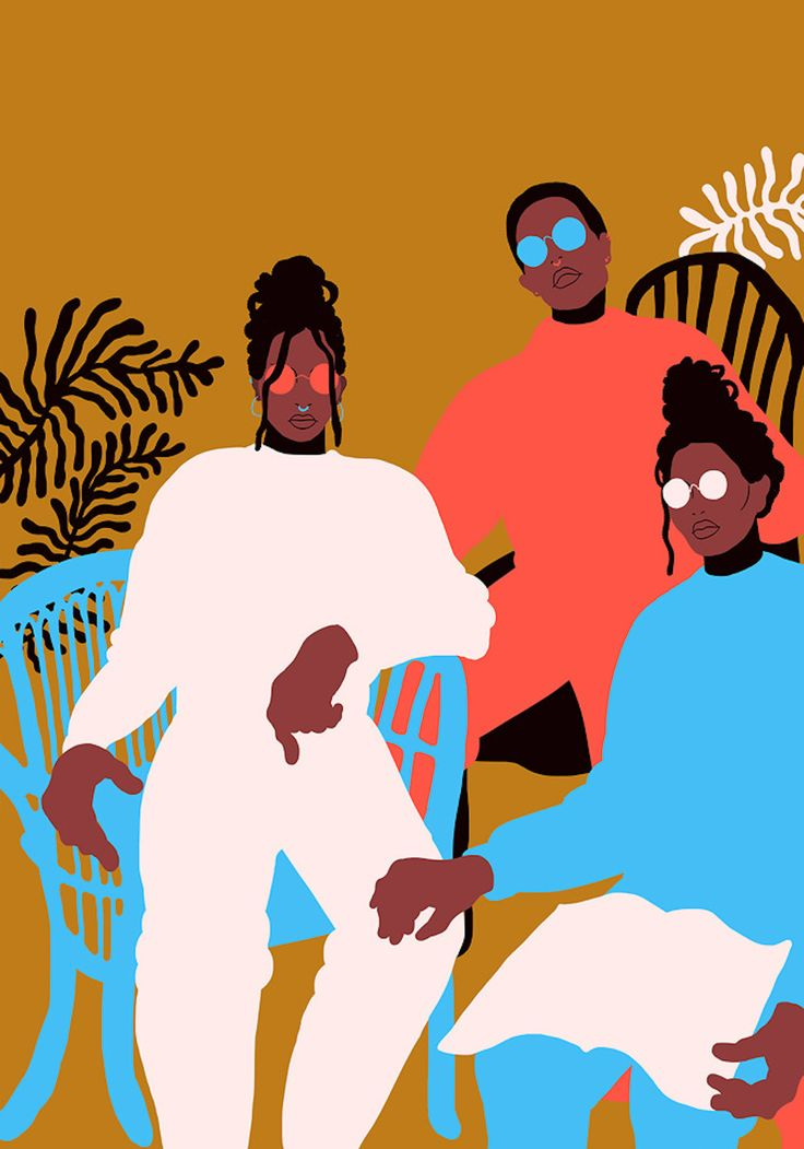 Flat & Edgy Illustration Artwork by Sara Andreasson https://mindsparklemag.com/design/flat-edgy-illustration-artwork/