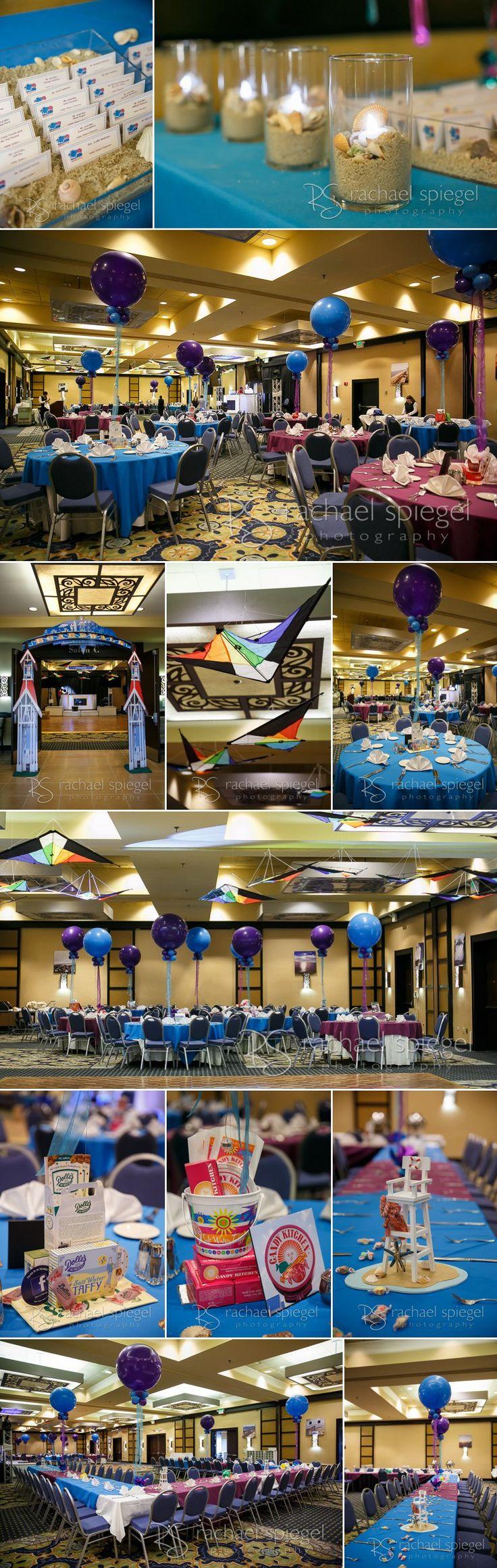 R's Bat Mitzvah Party – Gaithersburg Hilton. Beach themed Bat Mitzvah. Photographs by Rachael Spiegel Photography