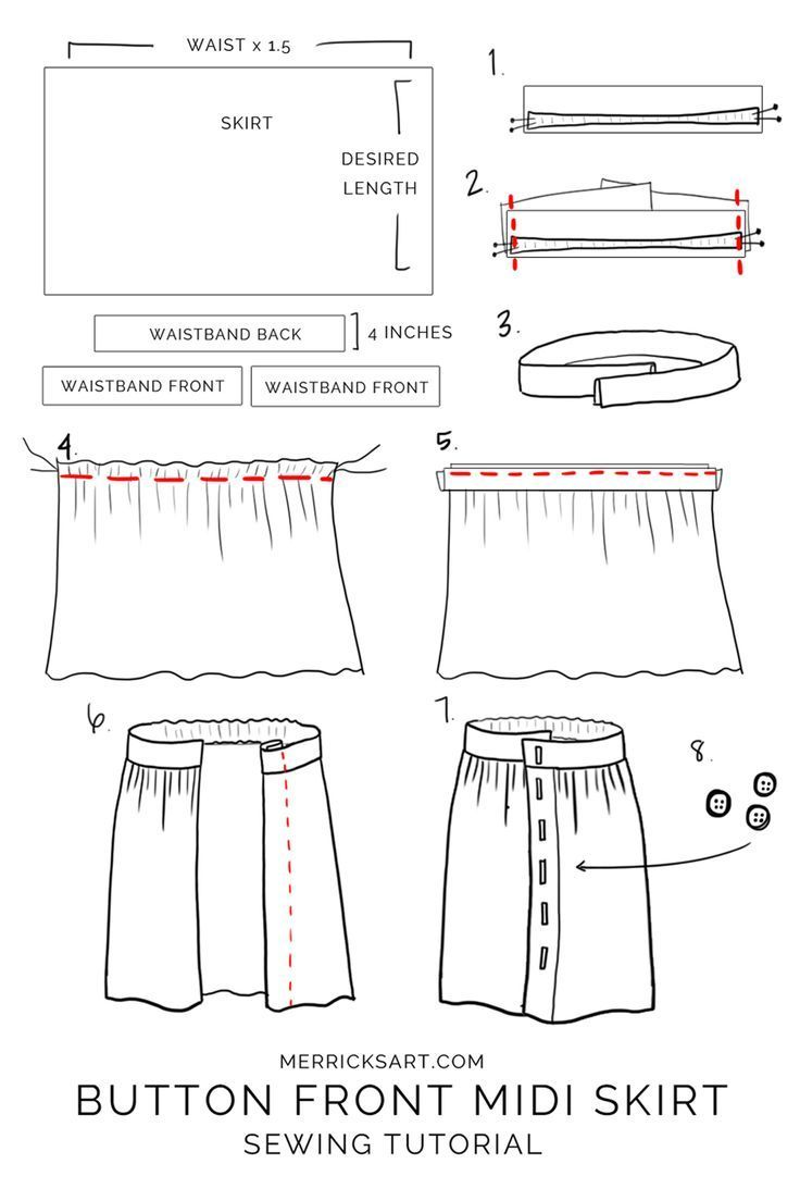 How to make a midi button skirt