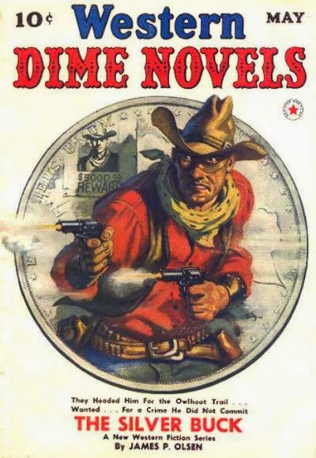 """the myth of the west spread by dime novels and the media And its final agonizing moments have been indelibly etched in the american psyche by the countless melodramatic paintings, dime novels, wild west shows, and movie versions of """"custer's last stand""""."""