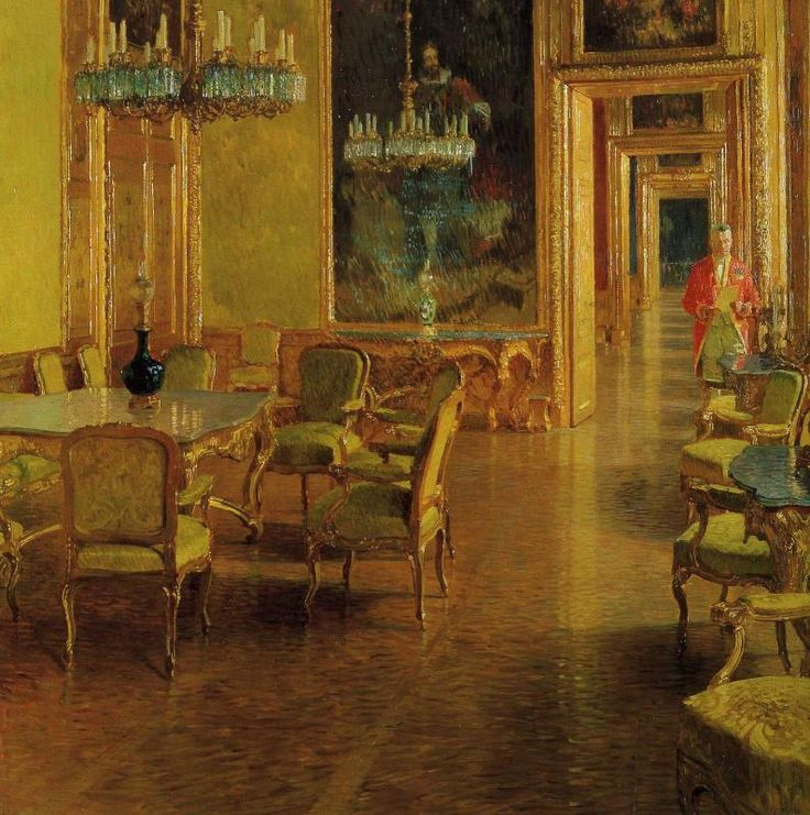 The Interior Of The Ambassador's Residence by Carl Moll