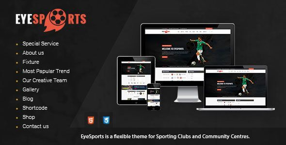 Free Download Eye Sports - Fixtures and Sports WordPress Theme