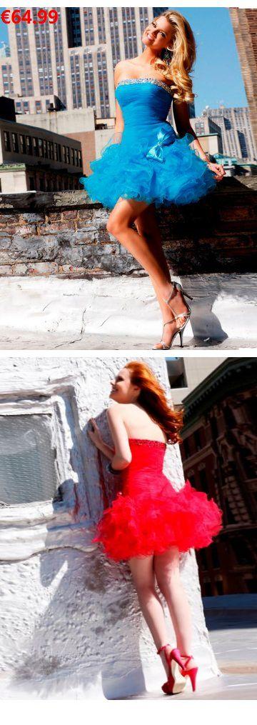 A-Linie aus Organza Trägerloser Ausschnitt Ärmellos Reißverschluss Blau Moderne Ballkleider/Abschlusskleider kurz                                 Specifications                                              ÄRMELLÄNGE          Ärmellos                                  AUSSCHNITT          Trägerloser AUSSCHNITT                                  RÜCKEN          Reißverschluss                          #inlove#weddingdress#bride #instabräute#wiesbaden#abschlusskleider