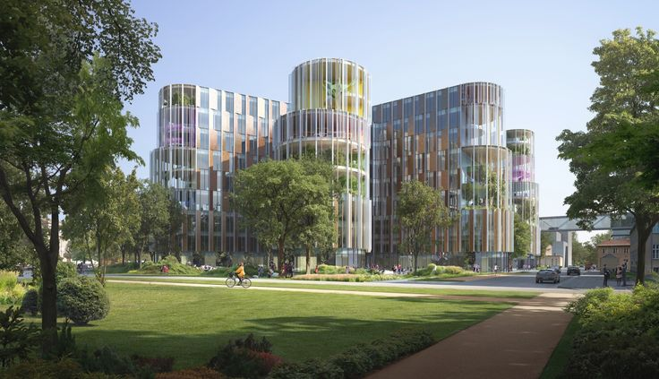 3XN Wins Competition for Copenhagen Children's Hospital with 'Playfully Logical' Design,Exterior view. Image Courtesy of 3XN