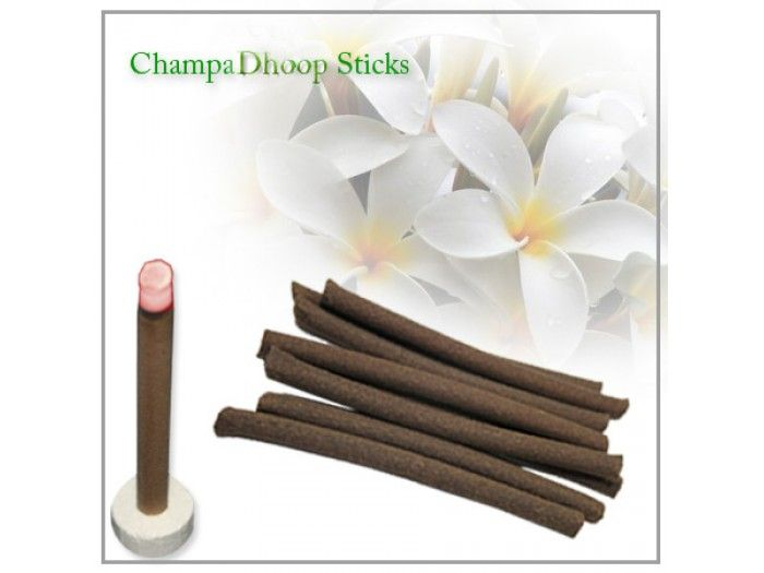 Champa Dhoopsticks ,Buy Dhoop sticks online from India : The fragrance of Champa is very popular and has been a part of the Indian culture from time immemorial. Champa is used in religious offerings. The scent of this Champa Dhoop Sticks can be enjoyed from several feets away. Burning time: 25 to 30 minutes Length: approx 3.5 to 4 inches