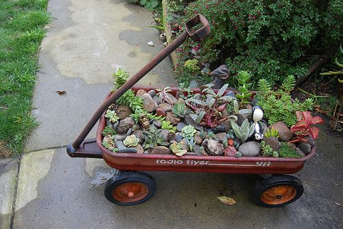 old wheelbarrow ideas | Head over to Far Out Flora to read