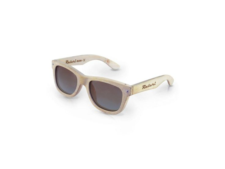 Ecolution Bamboo and Wood - Raleri Sunglasses -  Stone Surf Tarifa 1122 Cod. 805845019-1122 Bleached (Sbiancato) Mod. Stone Surf - Bamboo Col. Tarifa Lens. Gradient Brown UV400 Polarized + Antiglare