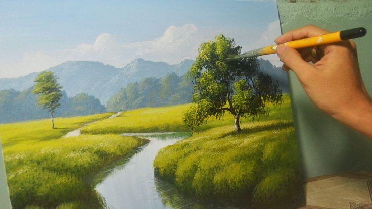 1:13:12 Acrylic Landscape Painting Lesson - The River by JM Lisondra