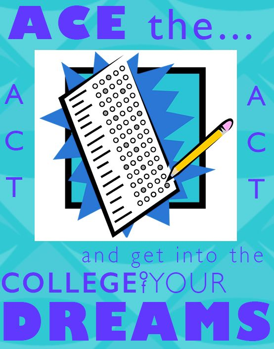 Ace the ACT and get into the college of your dreams.  Get free ACT test prep! #actprep