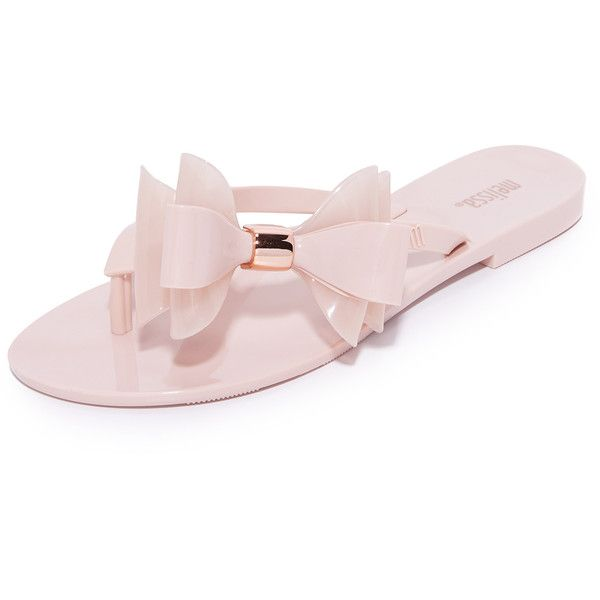 Melissa Harmonic XI Flip Flops ($75) ❤ liked on Polyvore featuring shoes, sandals, flip flops, rubber sole shoes, two tone shoes, melissa sandals, melissa shoes and melissa footwear