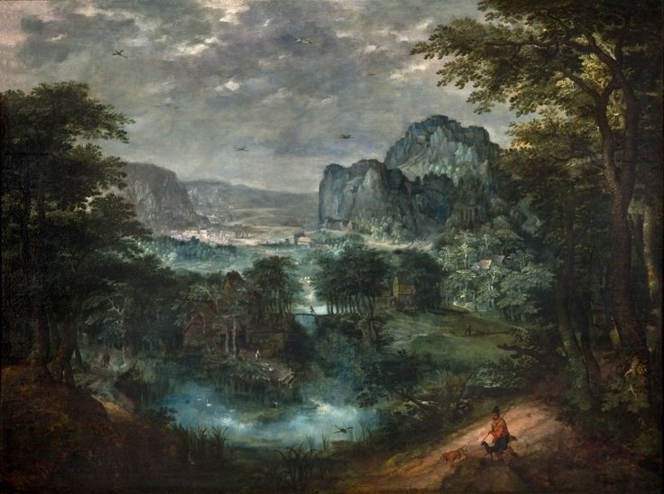 Gillis Van Coninxloo, love the colourshifts into the blue