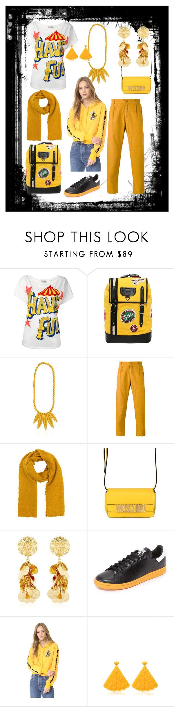 """""""to stand out"""" by emmamegan-5678 ❤ liked on Polyvore featuring Faith Connexion, Bally, Mariah Rovery, Faliero Sarti, Moschino, Tommaso Lonardo, adidas, Pam & Gela and modern"""