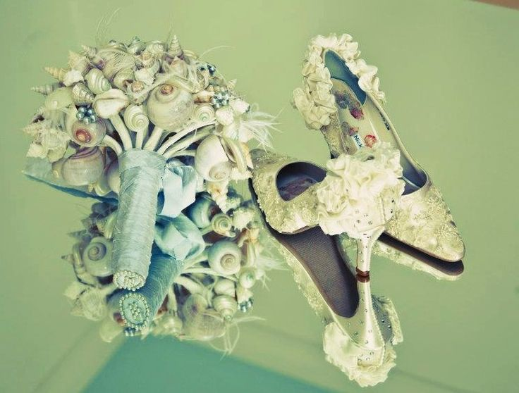 Design 'RUFFLES' - embellished with ivory lace, ruffles and Swarovski elements.  Soft leather insoles - Nicky ROX Shoe Designs