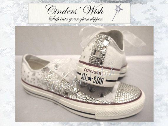 Crystal Converse Low rise / Wedding converse / by CindersWish