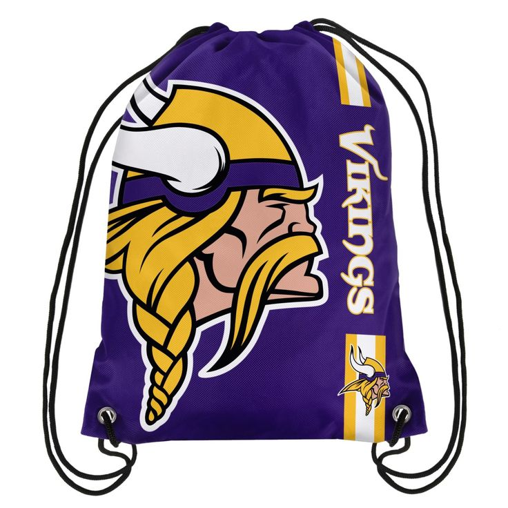 Minnesota Vikings NFL 2017 Football Team Logo Side Stripe Backpack