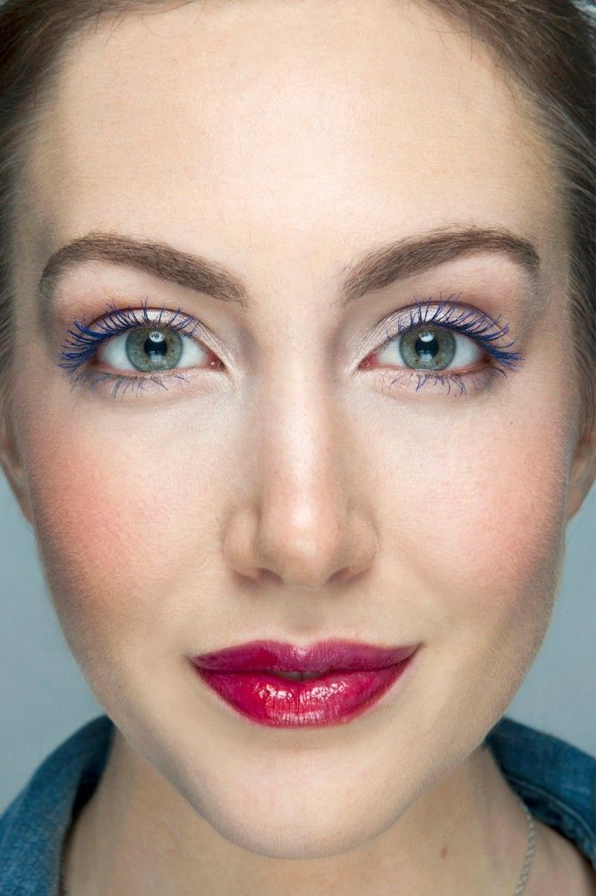 Colored mascara: Refinery29's how-to wear it guide. Photo by Ben RitterBen Ritter, Eye Colors, Colors Mascaras, Blue Eyes, Makeup Eye, Royal Blue, Lips Colors, Colours Mascaras, Blue Mascaras