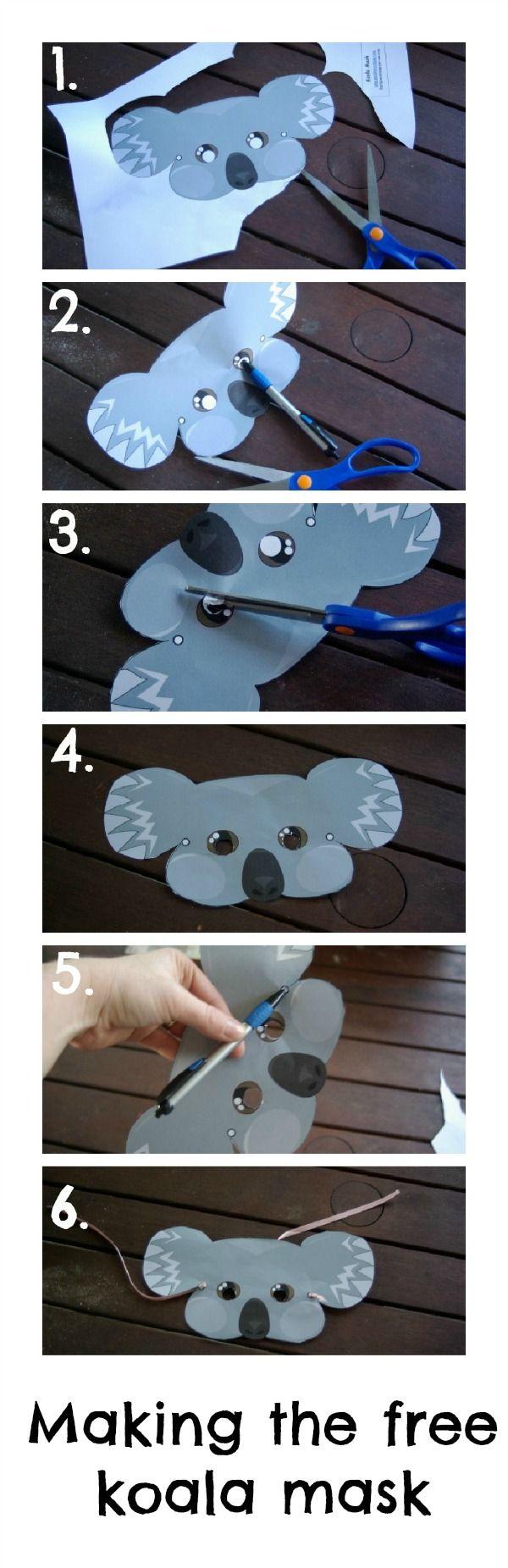 make a koala mask