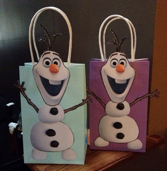Frozen Inspired Olaf Party Favor Bags by DoodlesSweetTreats, $2.50
