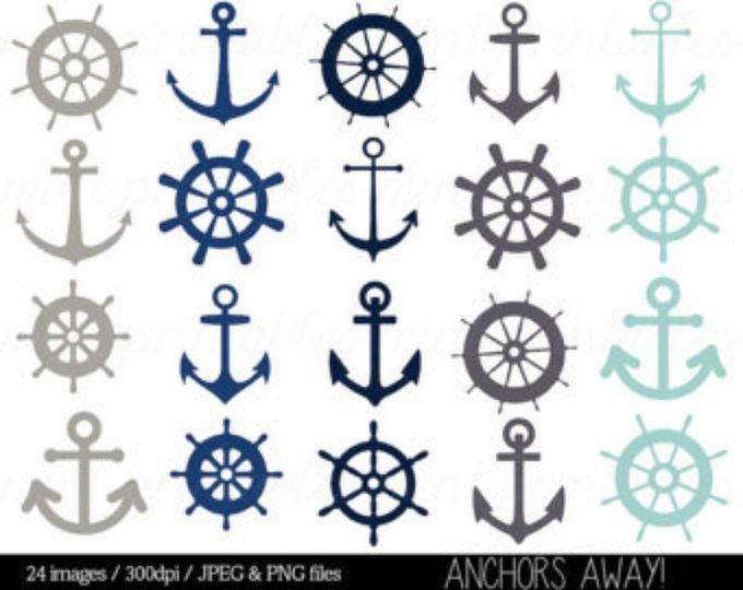 Etsy Your Place To Buy And Sell All Things Handmade Anchor Clip Art Clip Art Nautical Clipart
