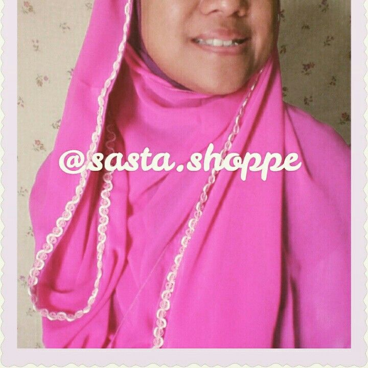a soft-pink pashmina chiffon with pink-white embroidery details. for further info follow our IG @Sasta.Shoppe