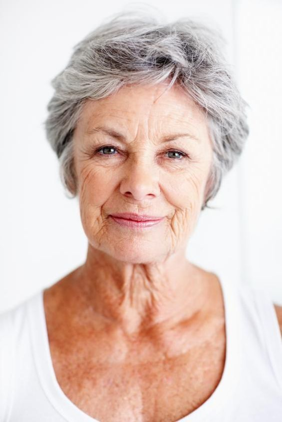 Easy Hair Styles for Seniors   Pictures of Short Hairstyles for Gray Hair [Slideshow]