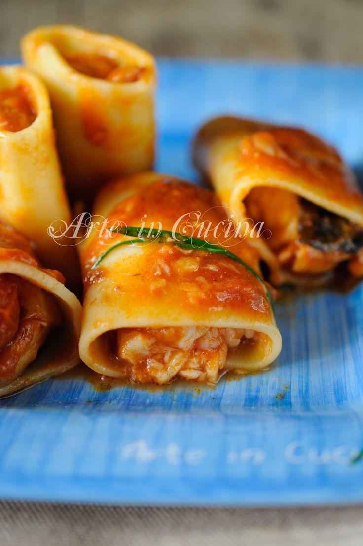 Paccheri stuffed with fish / Paccheri ripieni di pesce ricetta primo piatto vickyart arte in cucina #pomodoro #ricetta #recipes #tomato #recipe #italianrecipe