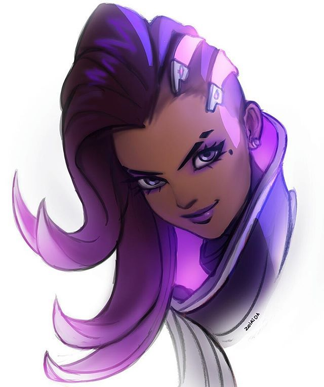 WEBSTA @ zolaida - Sketch before bedtime because BOOP. #Overwatch #sombra #blizzard #blizzcon