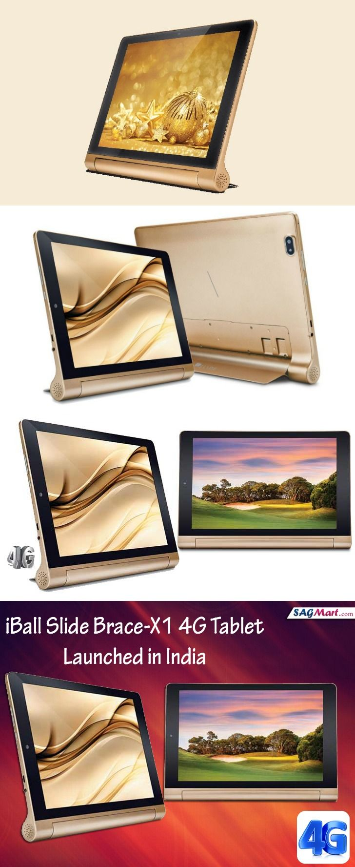 iBall Slide Brace-X1 4G Tablet At Rs. 17,499 Launched In India
