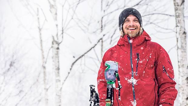 The smile on renowned skier Mark Abma's face says it all: If you want to have fun, head for the slopes.