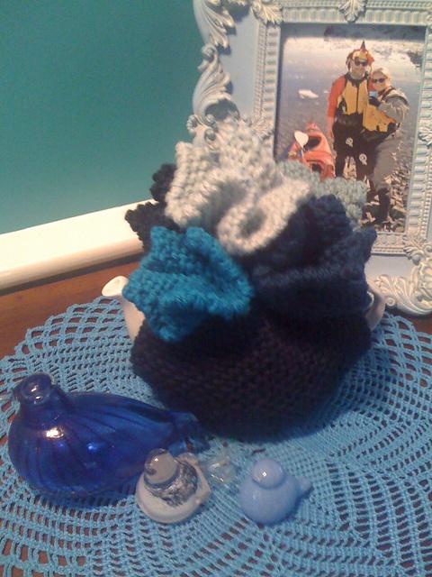 My Hanky Panky Blues (based on a tea cosy from Loani Prior's Really Wild Tea Cosies)