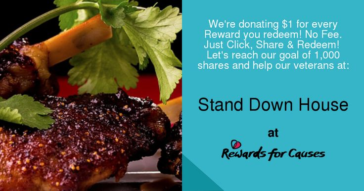 25% off Food & Drinks at Dada Restaurant Get this free reward for sharing a featured cause. It's simple, easy and rewarding. Together, our shares raise an unprecedented amount of exposure for local causes that better the community.