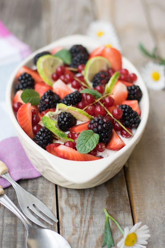 Tiramisù alle fragole e lime