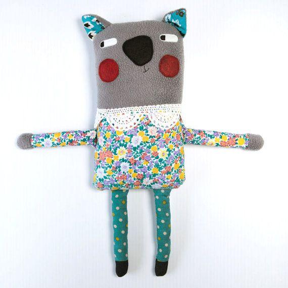Plush Wombat Soft Toy  Cuddly Fleece Softie by alifeinthemaking