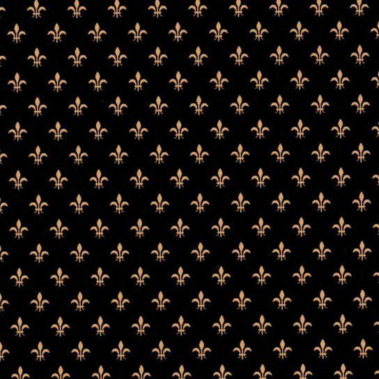 Fabric Finder's Inc.  Print #1834 Black and Gold Fleur de lis – Mini #fabric #sew #sewing #fabricdesign #cottonfabric #fleurdelisfabric #fleurdelis