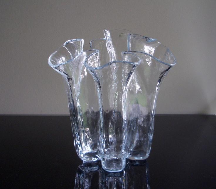 Muurla Finland Ruffled Glass Vase.