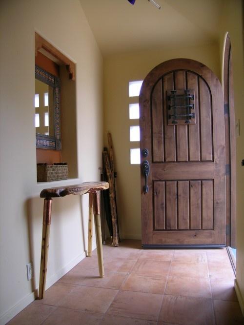 arch wood front door