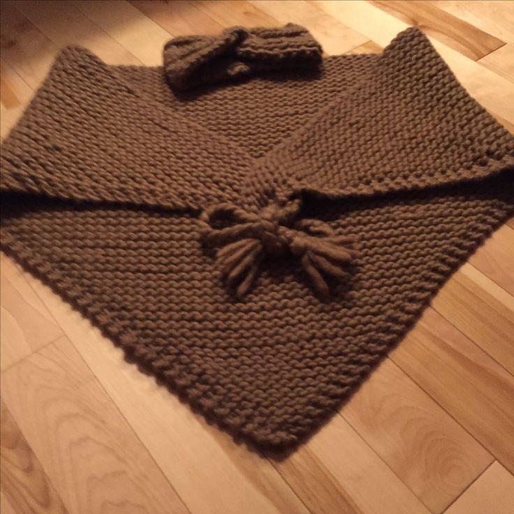 Maxi trendy châle et son bandeau, 100%mérinos. Inspiré de: http://pauletsophieinny.blogspot.ca/2009/02/chale-is-back-avec-son-tuto.html