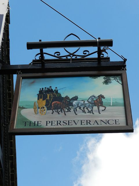 'The Perseverance' Pub Sign - Havant