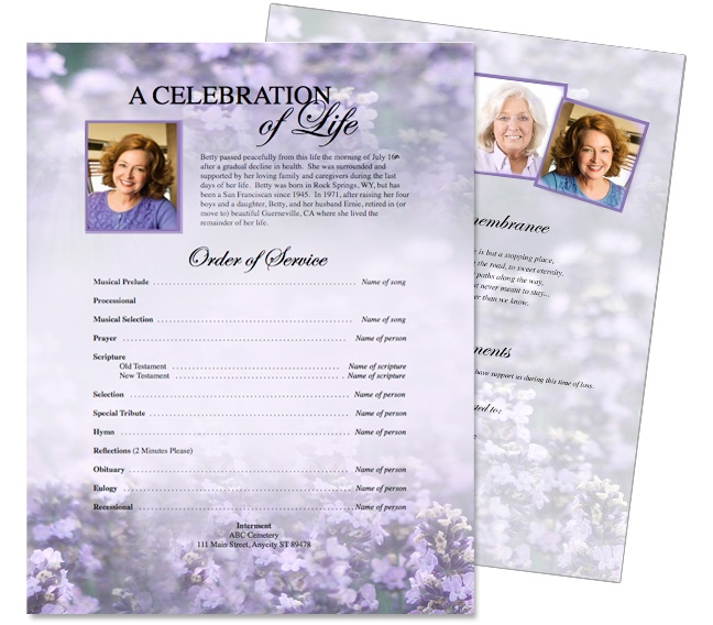10 best Funeral Memorial Stationary Flyer Sheets Templates images - funeral brochure template