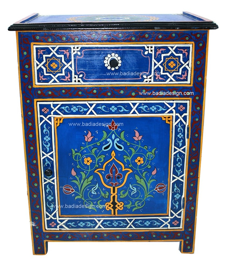 29 best hand painted furniture images on pinterest for Moroccan hand painted furniture