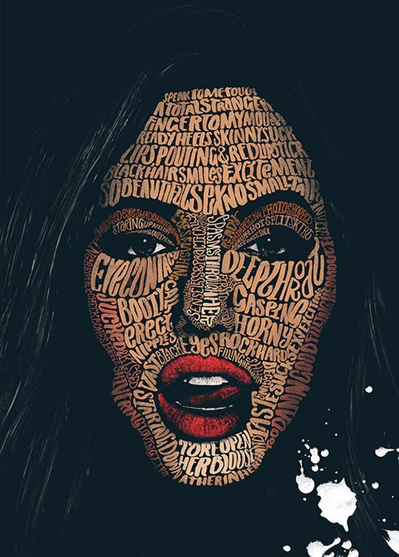 Typographic Portraits by Peter Strain                                                                                                                                                      More