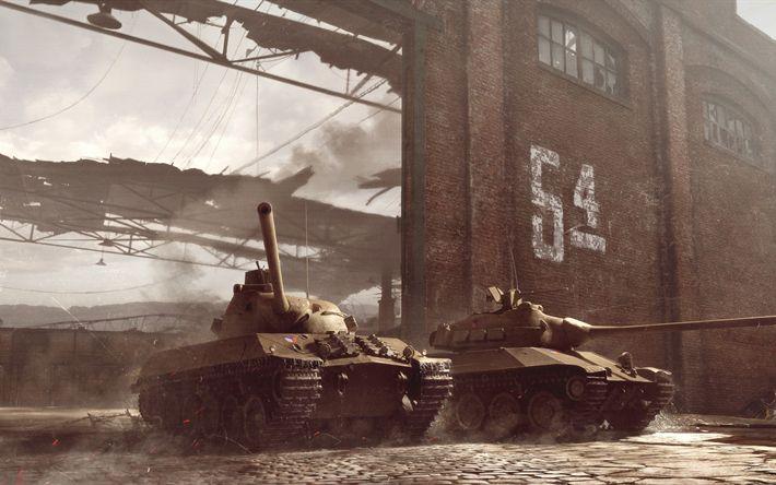 Descargar fondos de pantalla TVP T 50 51, Skoda T 50, WoT, 4k, World of Tanks, Checoslovaquia