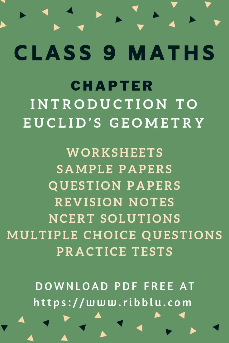 Cbse Class 9 Maths Chapter Introduction To Euclid S Geometry Sample Papers Ncert Solutions Studying Math Sample Paper Sample Question Paper [ 1102 x 735 Pixel ]