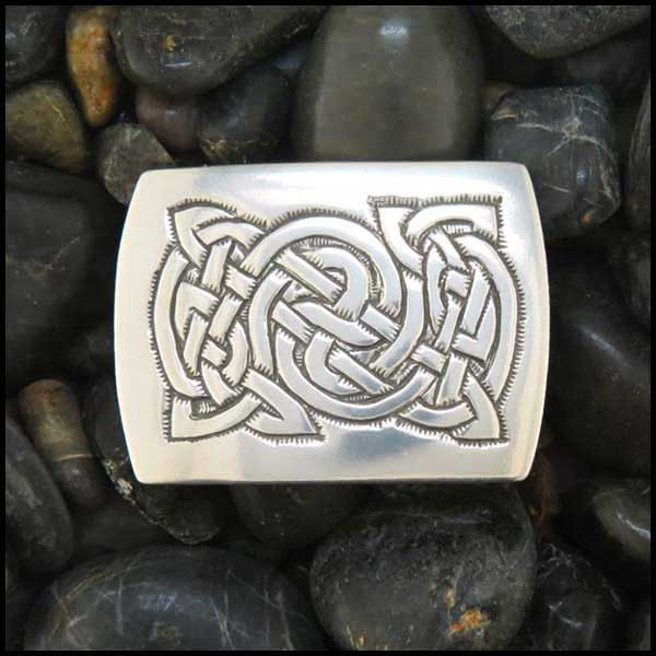 Sterling Silver Men's Celtic Knot belt buckle.
