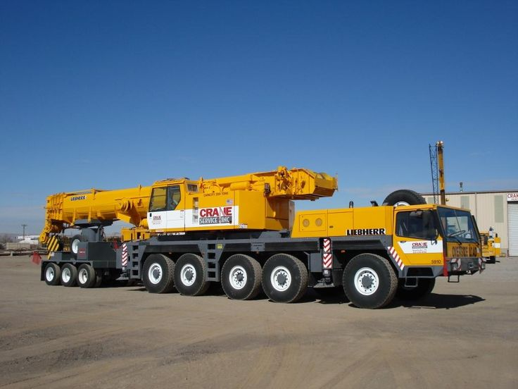 Liebherr with boom dolly.