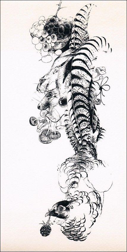 Luděk Maňásek - V lese (kresba tuší)