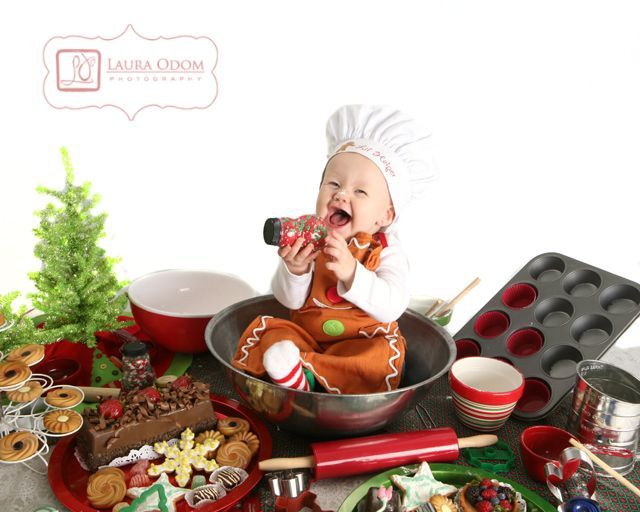 so I was making Santa some cookies, when I fell in the bowl! Can you believe it?