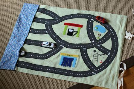 Tapis circuit de voitures